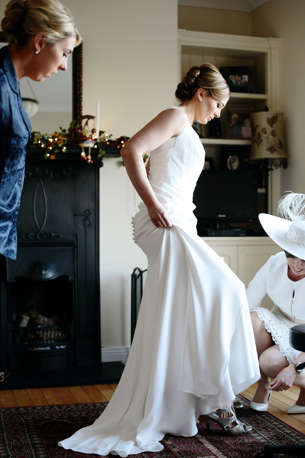 clonabreany house wedding bride in dress photo