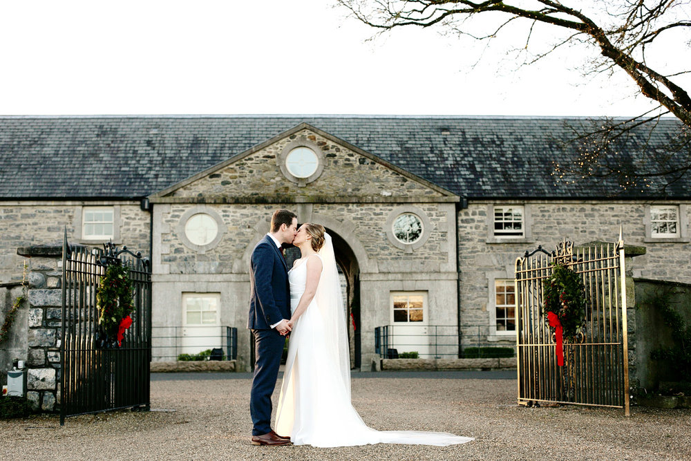 clonabreany house winter wedding photo