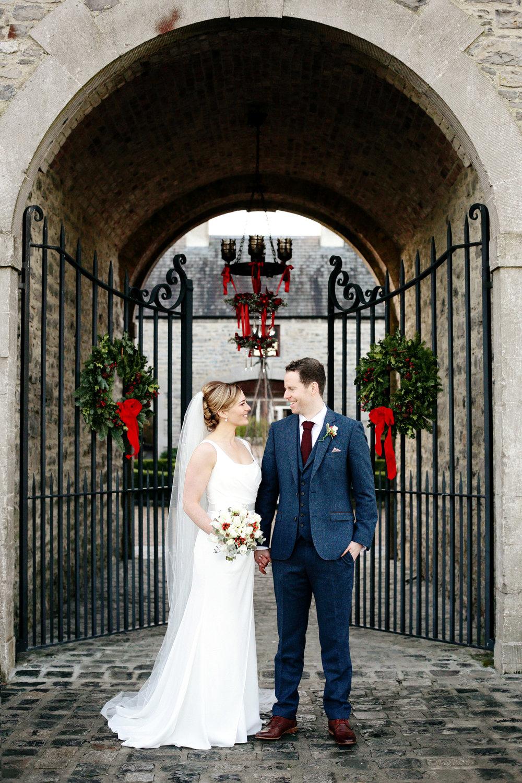 winter wedding in clonabreany house irish wedding photographer