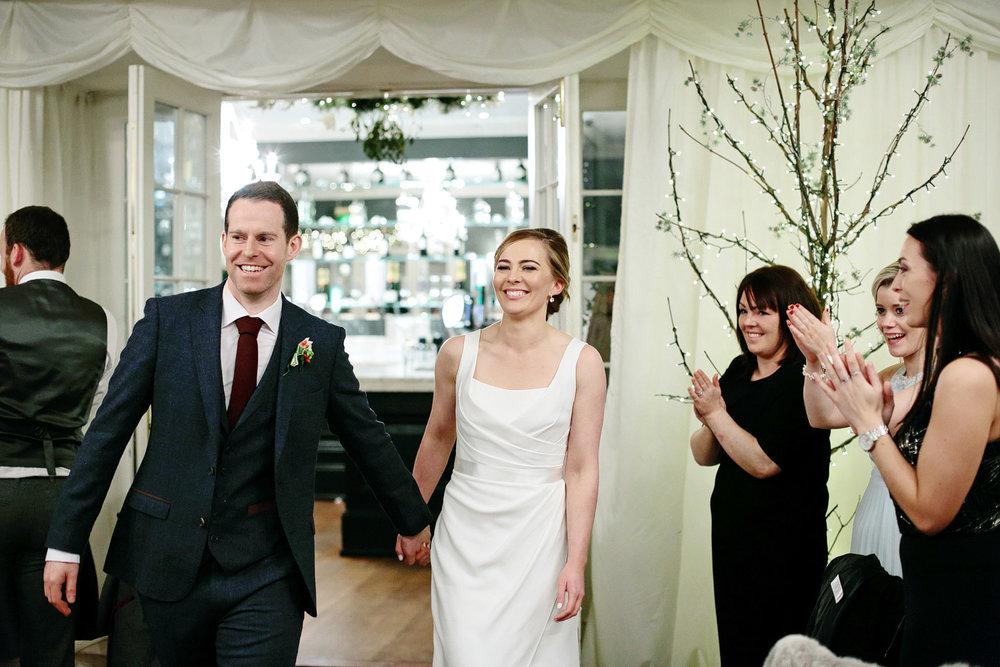 bride and groom entrance clonabreany house wedding