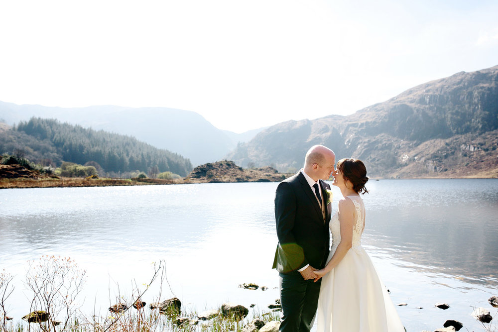 Gougane Barra Church wedding photo
