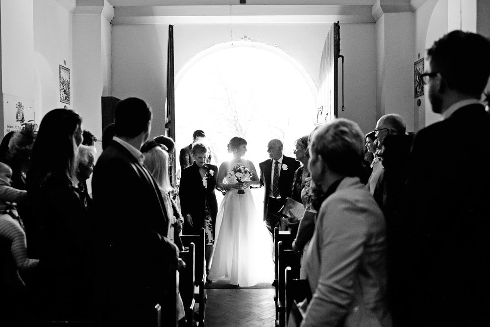 gougane barra church wedding bride entrance