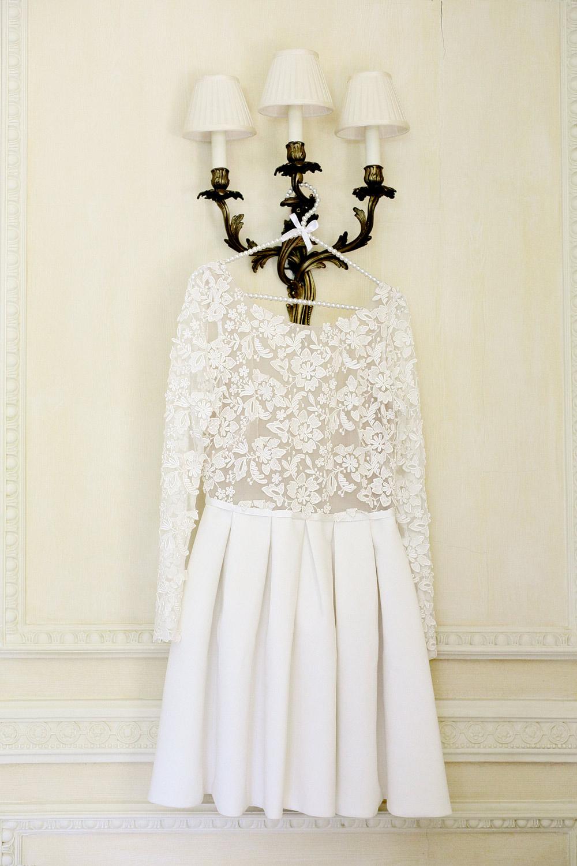 rime arodaky short wedding dress