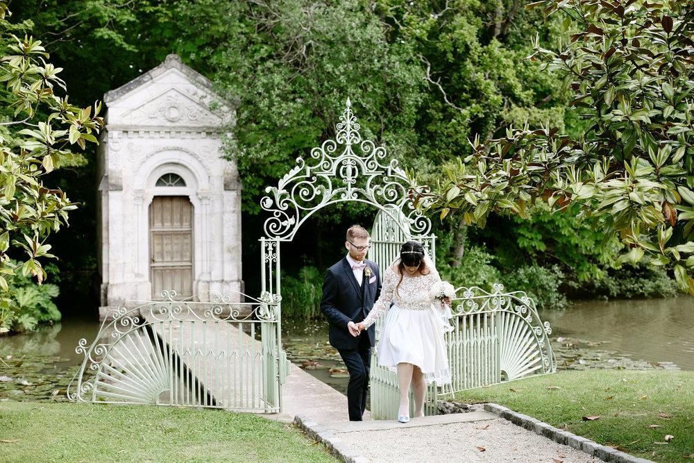 elegant wedding photography cliff at lyons Ireland