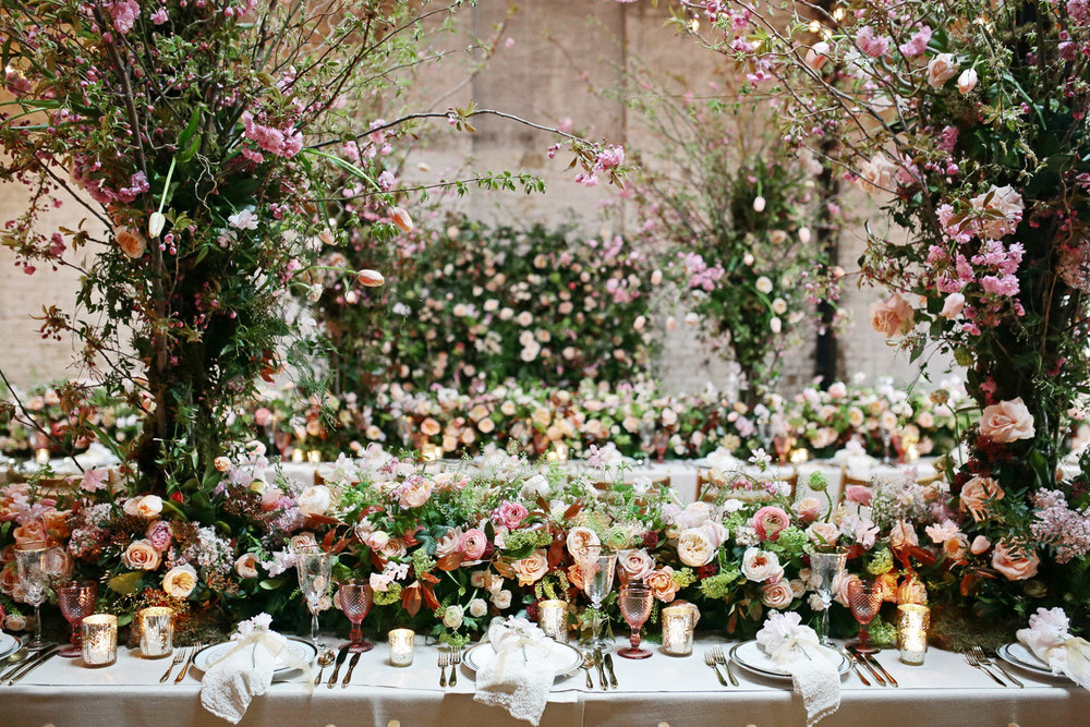 warehouse wedding decor london