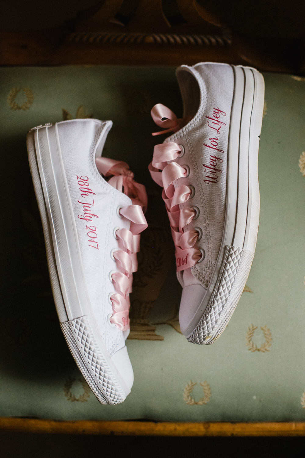 customised wedding converse tankardstown house