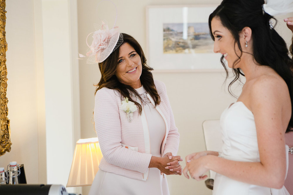 mother and bride emotional photo tankardstown house