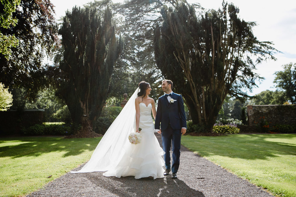 tankardstown house couple in walled garden