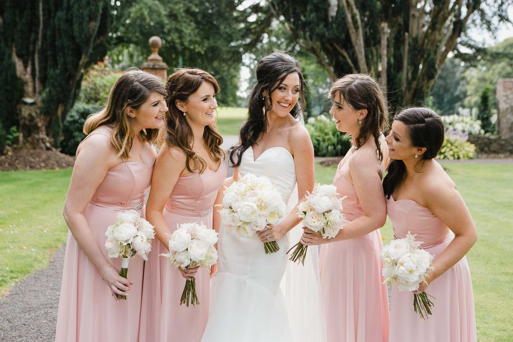 bride and bridesmaids tankardstown wedding
