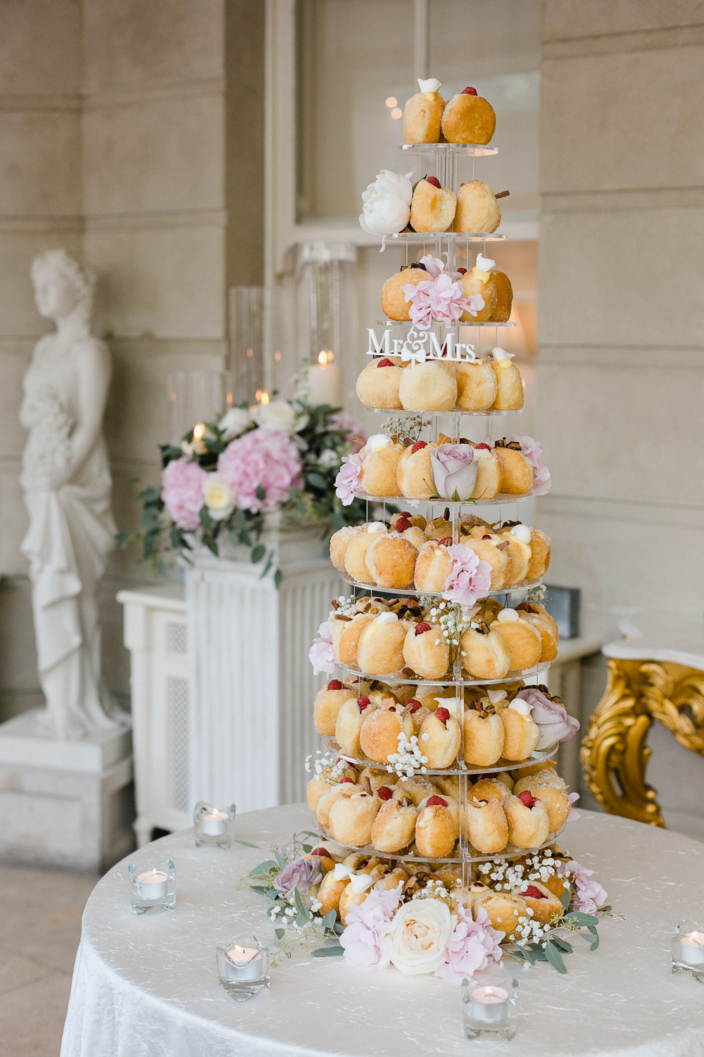 doughnut wedding cake tankardstown house wedding