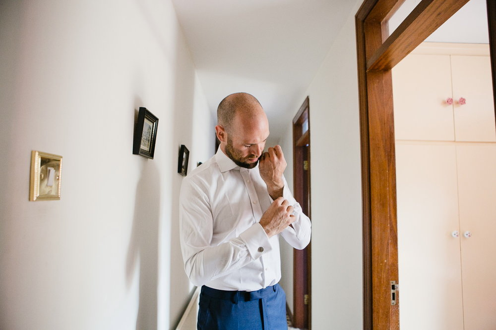 groom getting ready at Virginia Park Lodge