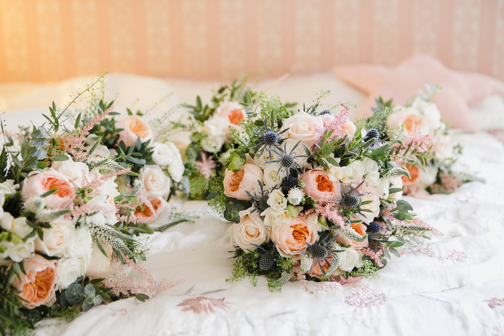 bridal flowers for virginia Park Lodge wedding Cavan