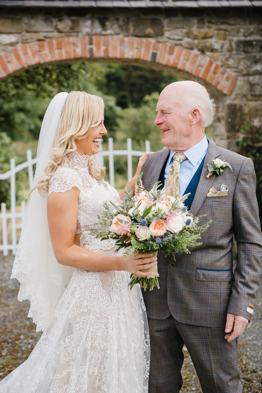 father and bride photo virginia park lodge wedding cavan