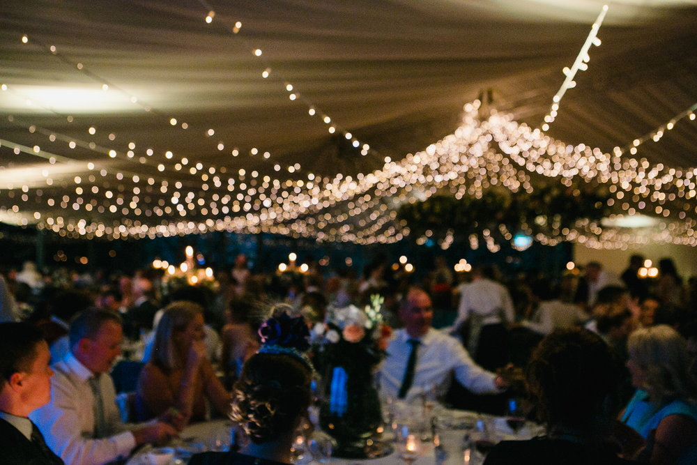 Virginia Park Lodge wedding marquee reception