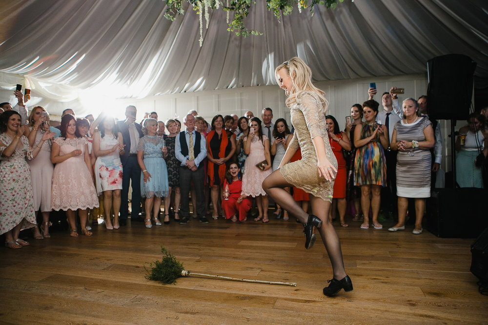 Irish broom dance wedding