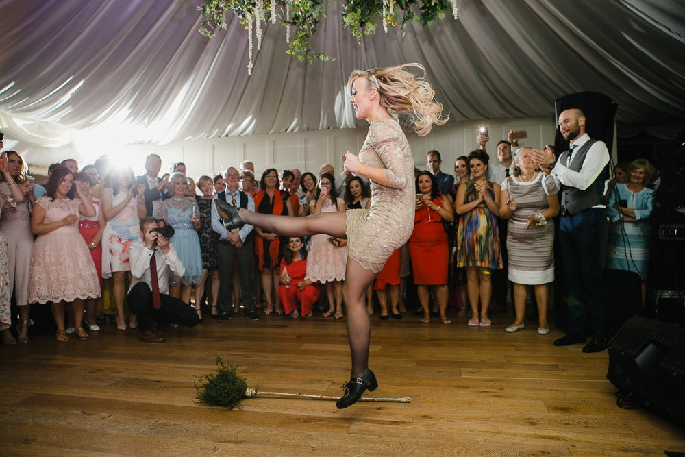 Irish broom dance wedding at Virginia Park Lodge