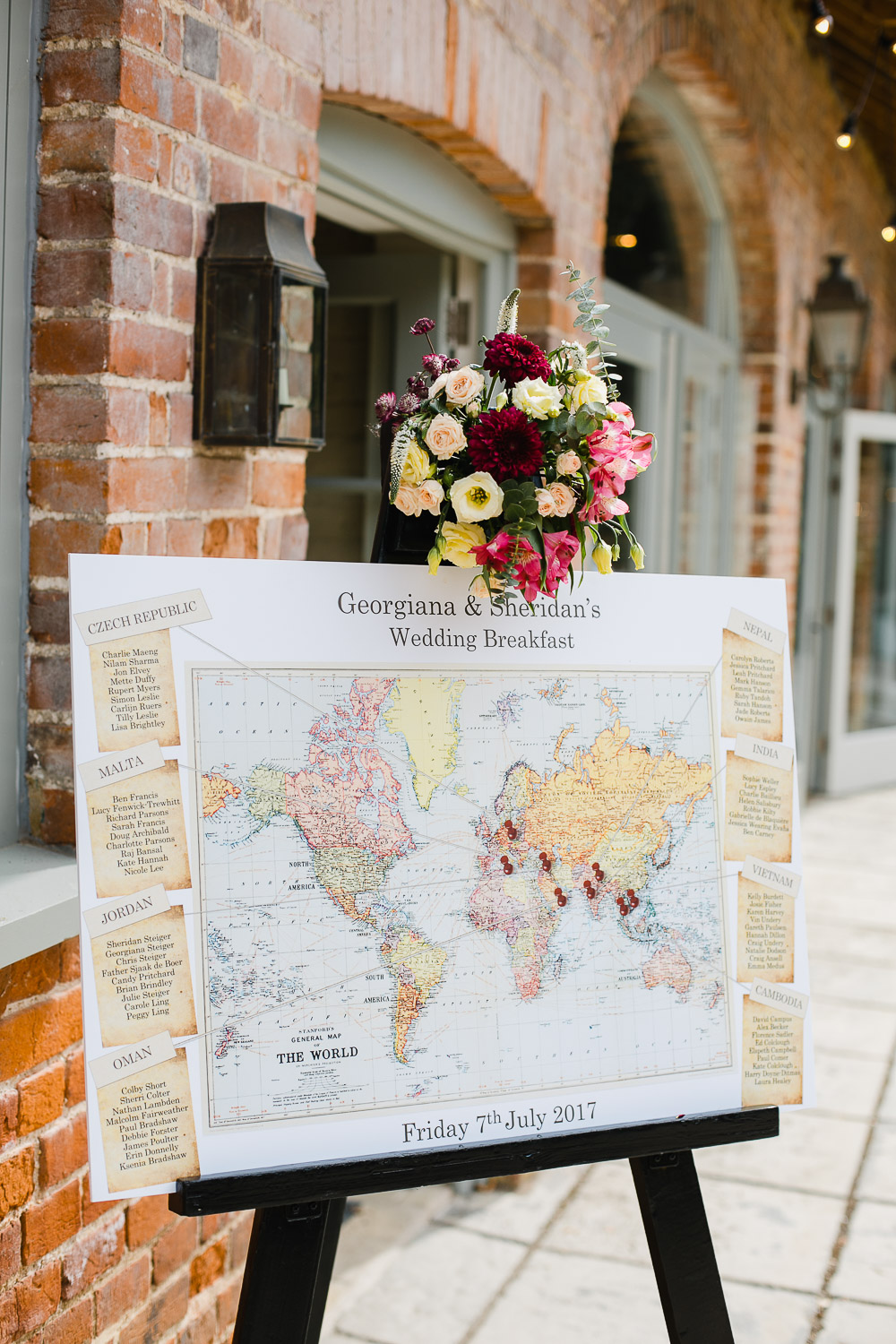 world wedding table plan dorney court wedding
