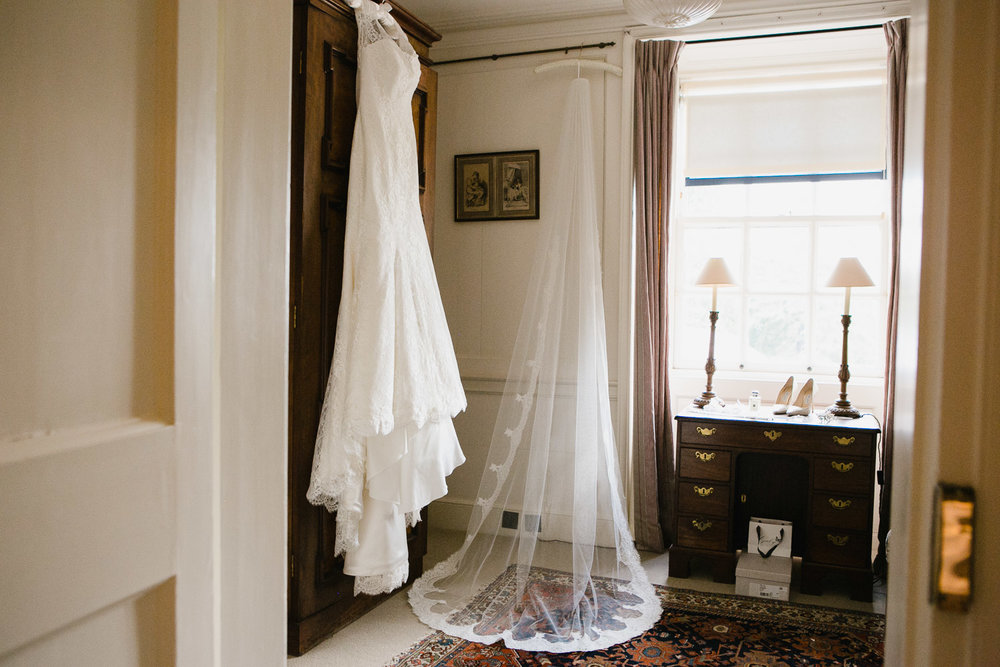 bride's dress in Dumfries House