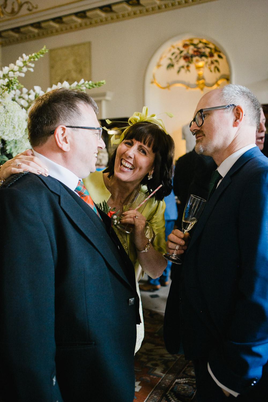 wedding reception at Dumfries House Scotland