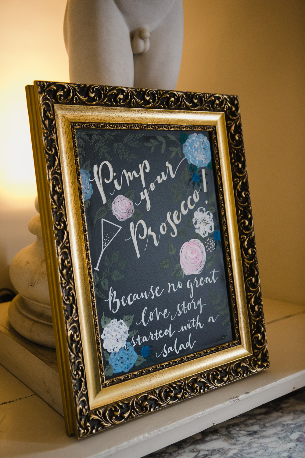 calligraphy wedding signs Scotland
