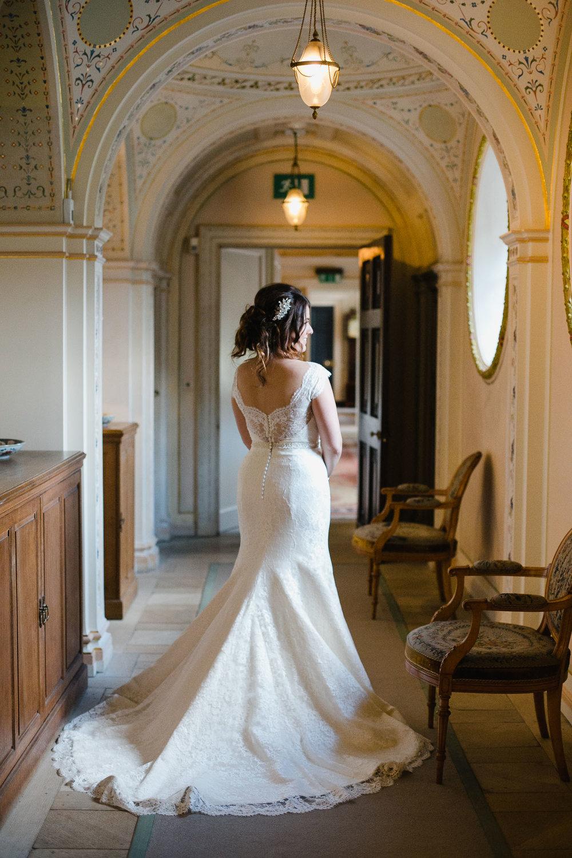 bride wearing Augusta Jones wedding dress Dumfries House