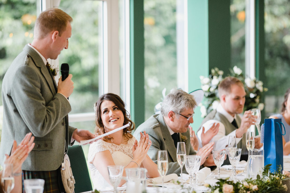 wedding speeches Dumfries House Scotland