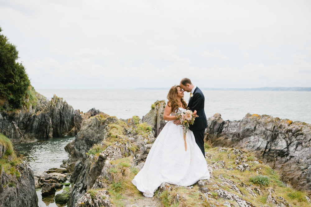 Irish destination seaside wedding