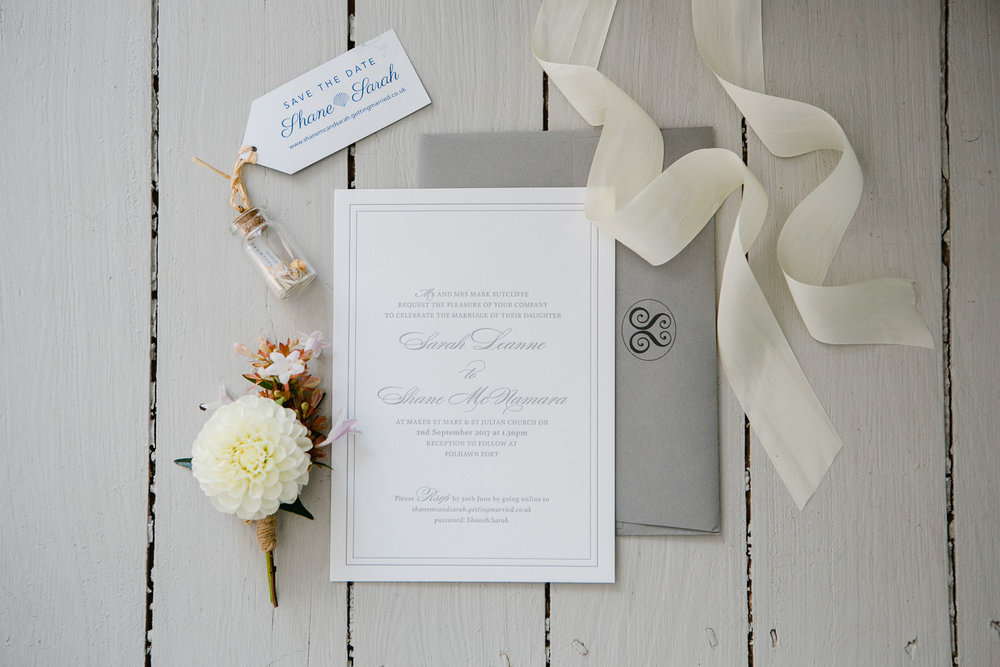 letterpress wedding stationery designer in Ireland