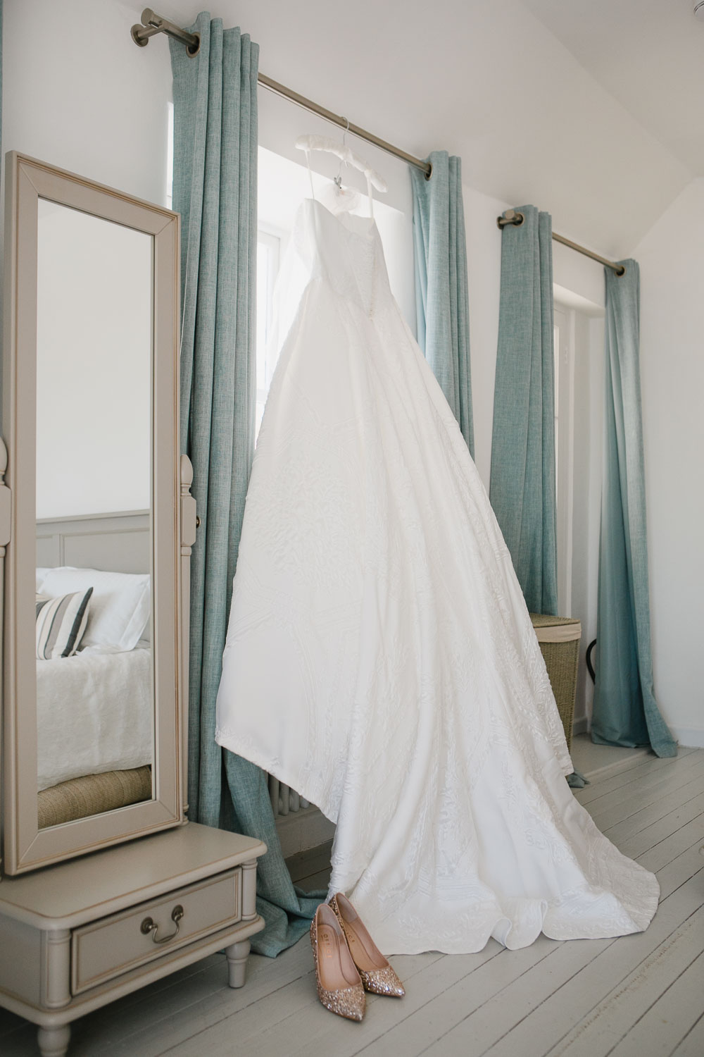 Suzanne Neville wedding gown