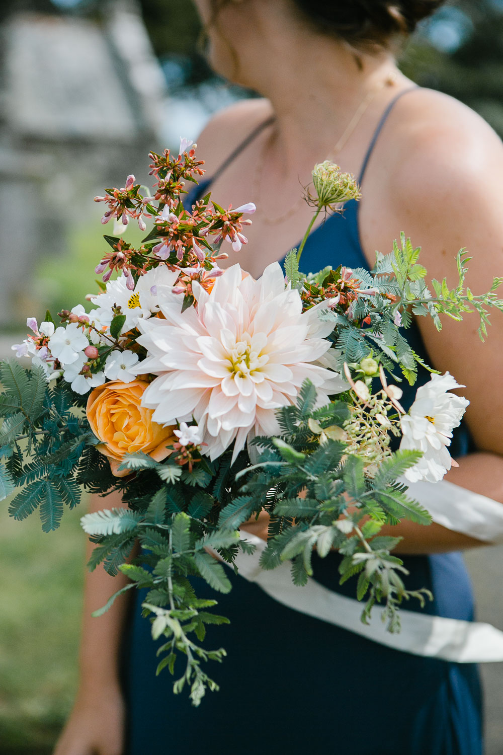 bridesmaids bouquet by Garden Gate Flower Company