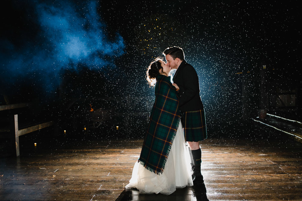Creative Rainy Wedding Photo
