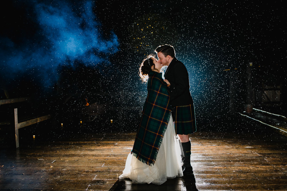 Rainy Wedding Photo At Cripps Barn in Gloucestershire