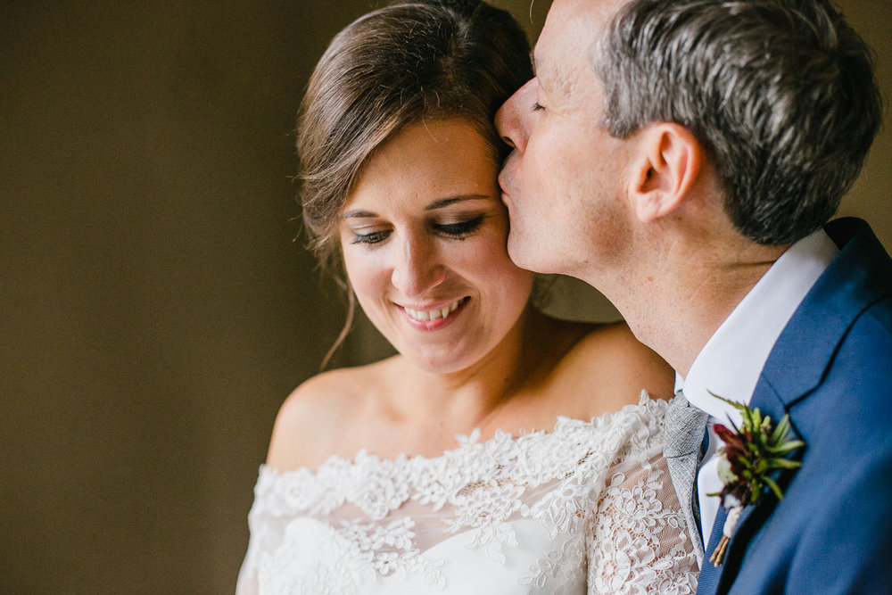 Bride And Groom Portrait In Dunowen House In Cork