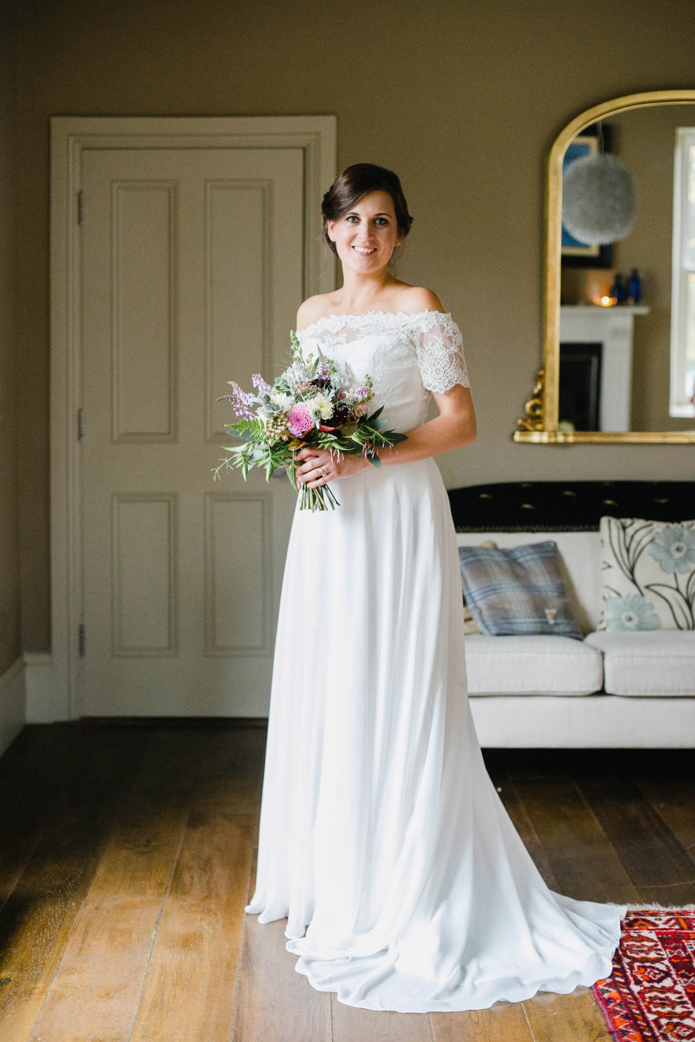 Natural Light Bridal Portrait In Dunowen House