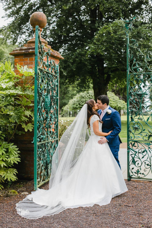 Classic Tankardstown Wedding Photo in the walled garden.jpg