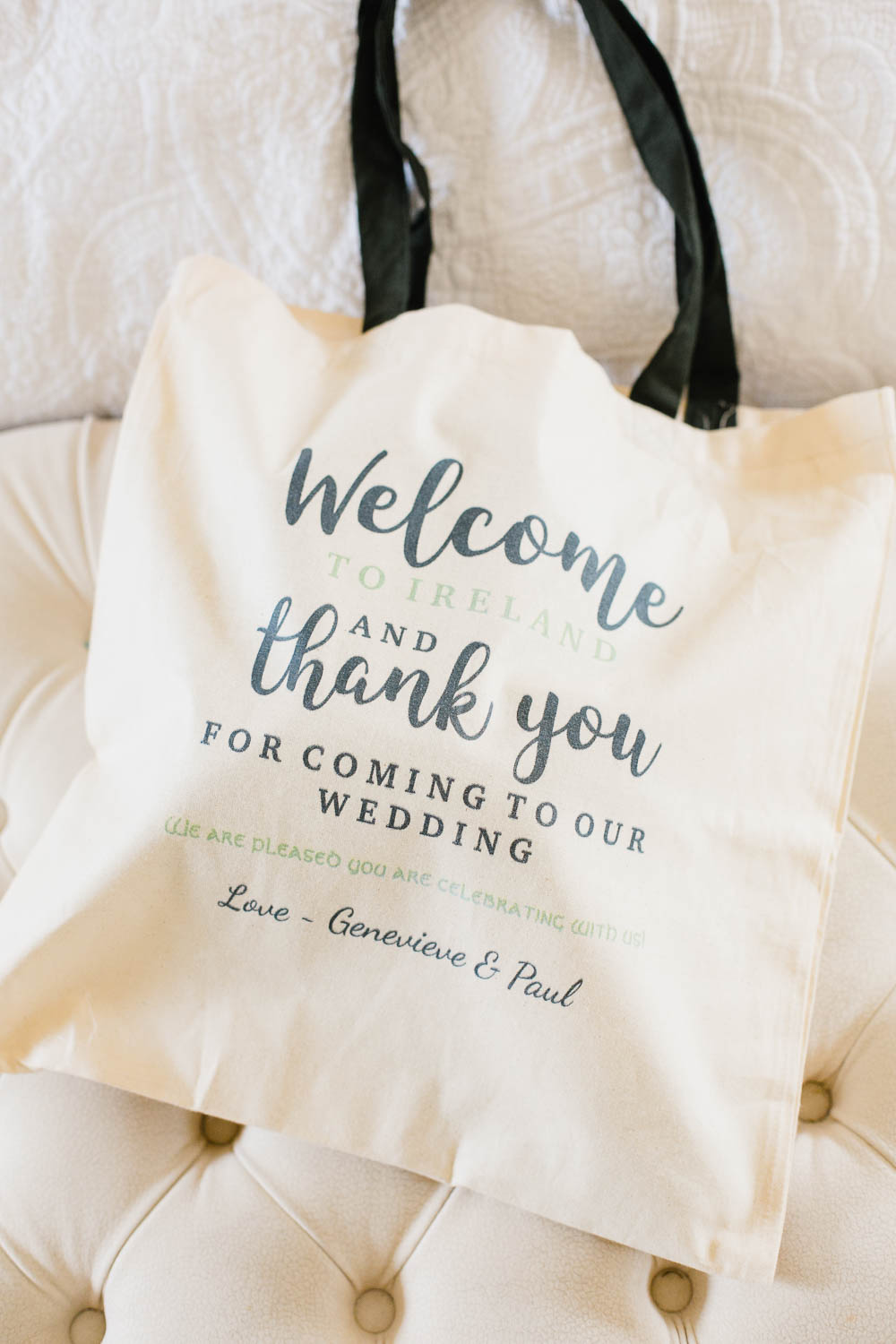 Destination Wedding Ireland Guest Welcome Bags