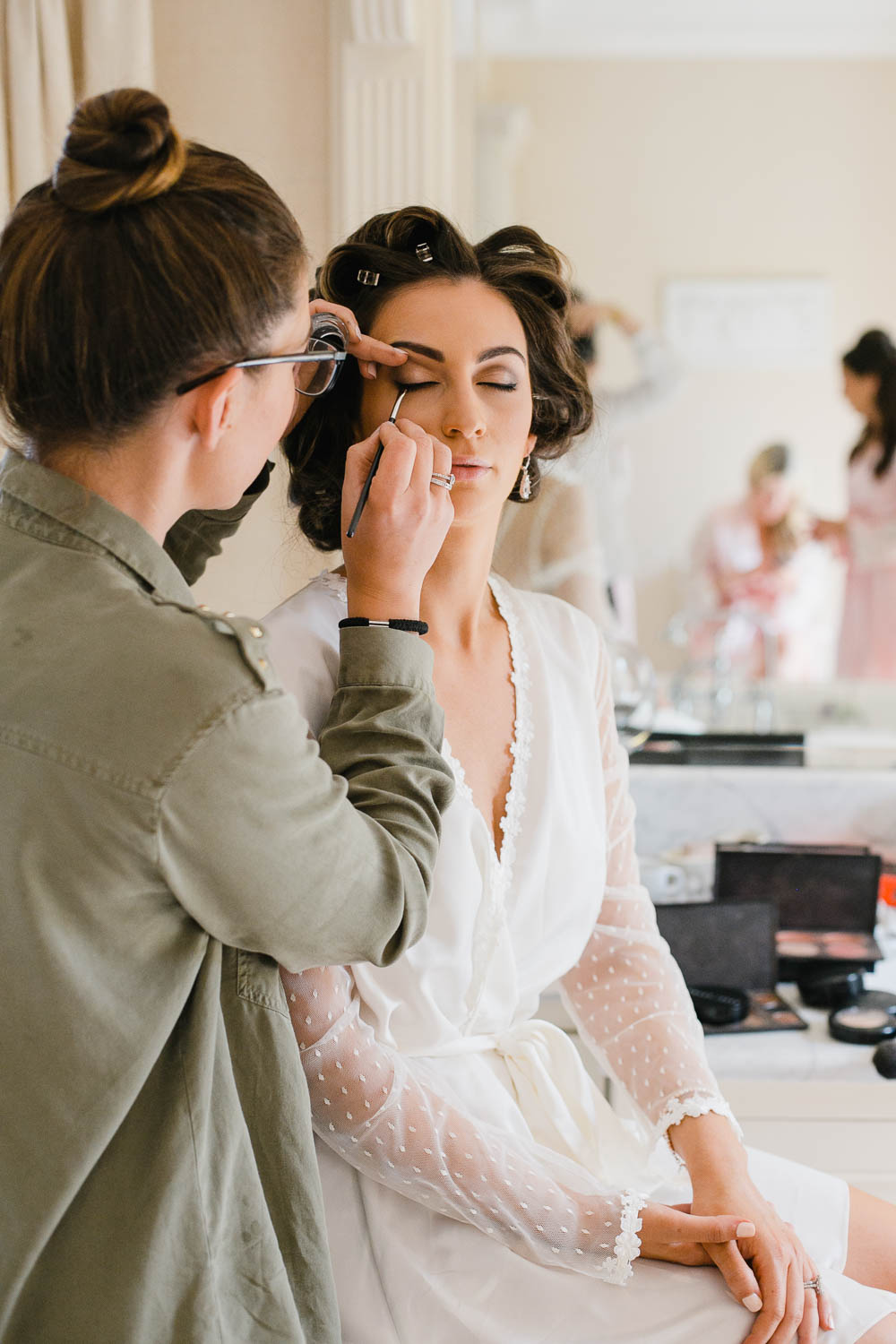 Bride Getting Ready In Tankardstown House suite