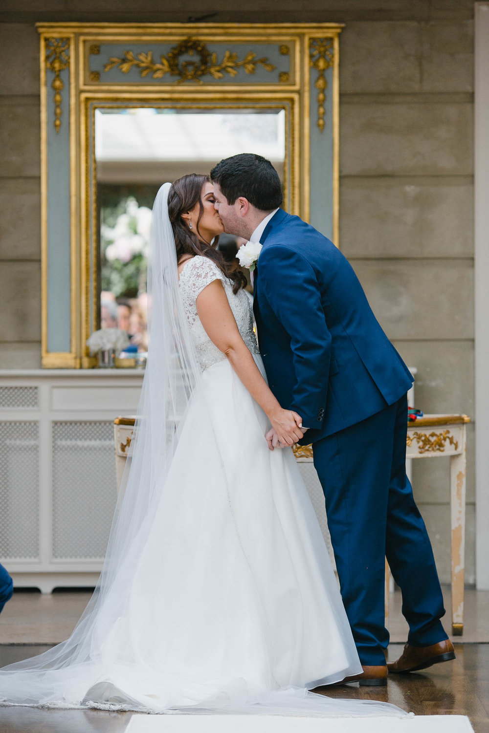 Bride And Groom First Kiss At Tankardstown House