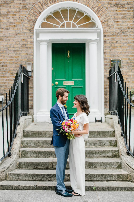 Dublin City Wedding Bride And Groom Photo