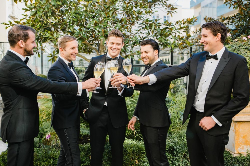 Black Tie Groomsmen Suits Tankardstown House Wedding