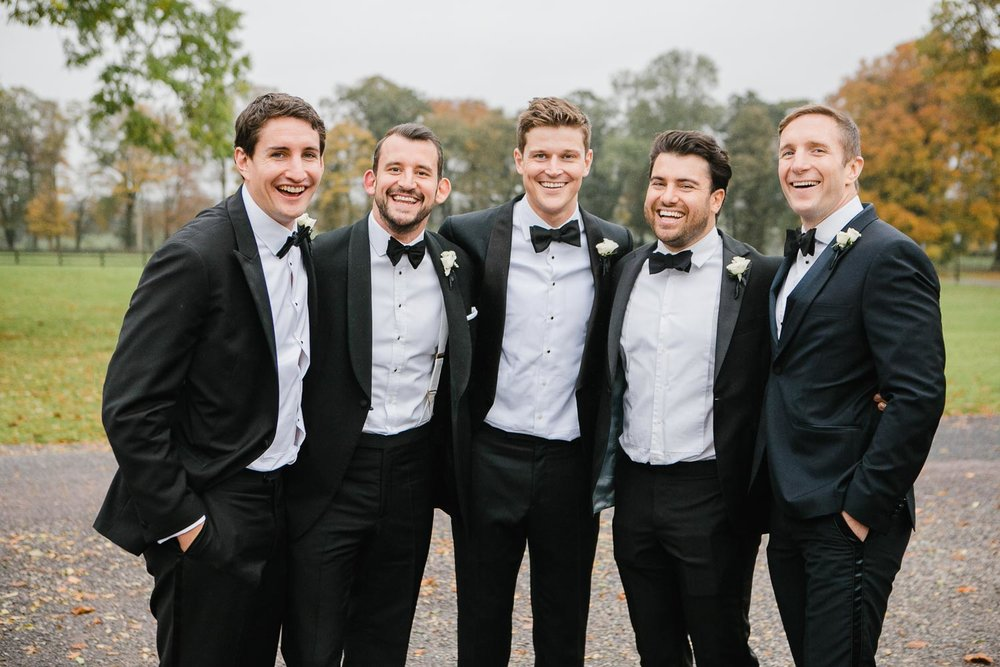 Tankardstown House Wedding Groomsmen Black Tie Attire