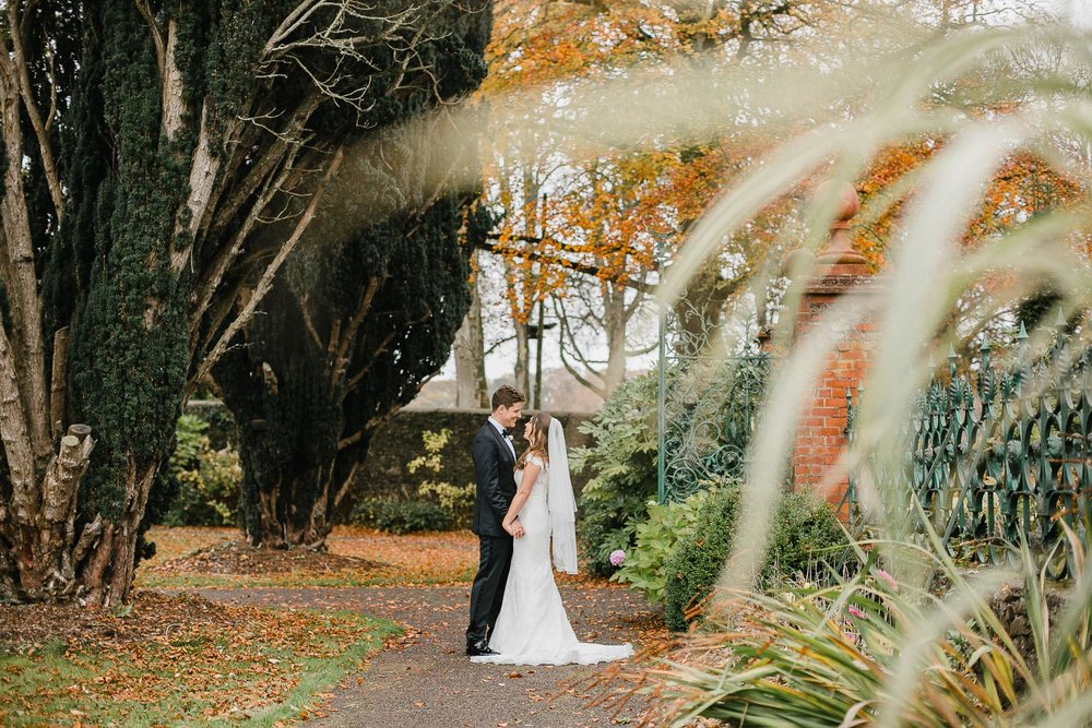 Bride And Groom Photo In Tankardstown House Walled Garden