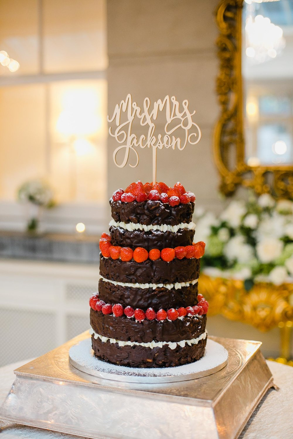 Tankardstown House Chocolate Wedding Cake