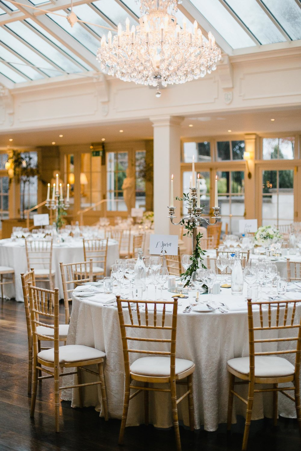 Tankardstown House Wedding Day Reception Table Setup