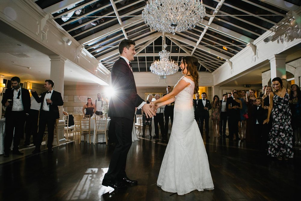 Tankardstown House Wedding First Dance In Orangery