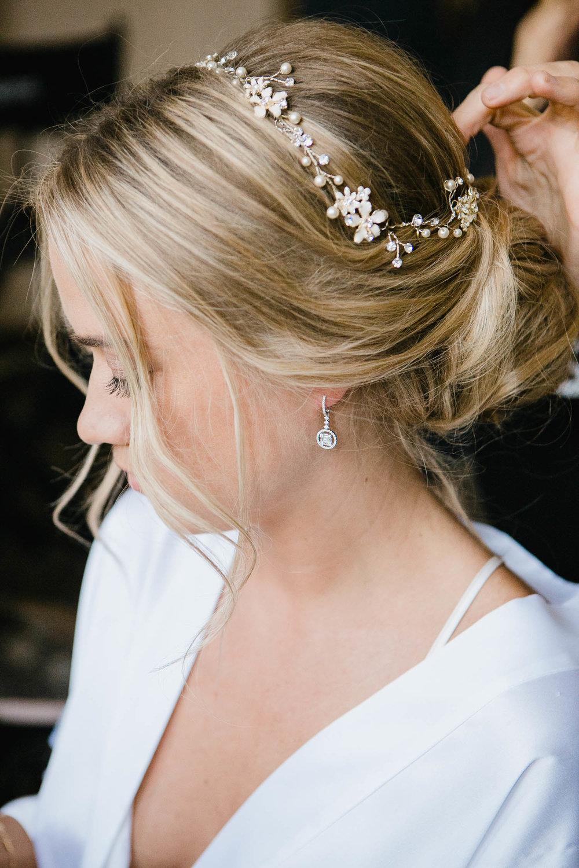 Bridal Hairstyle Messy Bun Updo Photo