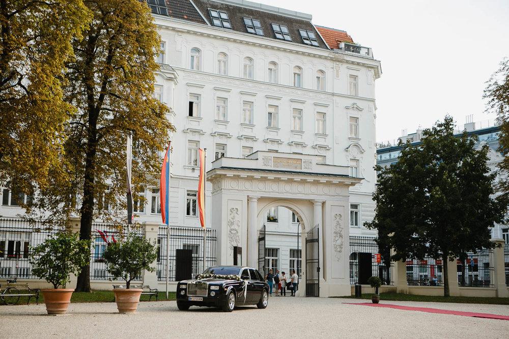 Palais Leichtenstein Wedding In Vienna Bridal Arrival