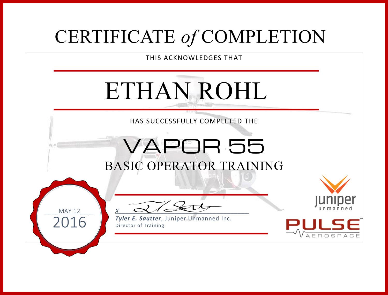 certificates rohl drones inc