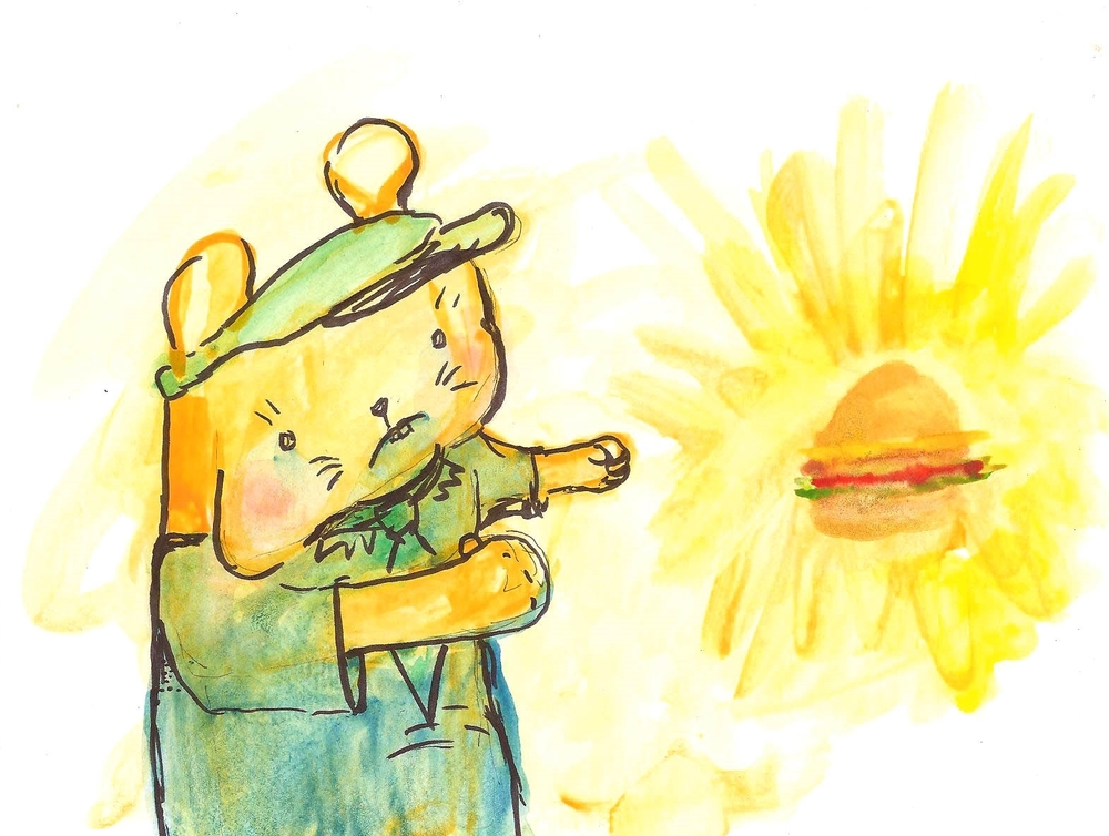 "Burger Dreamz   6""x8""  watercolor on paper"