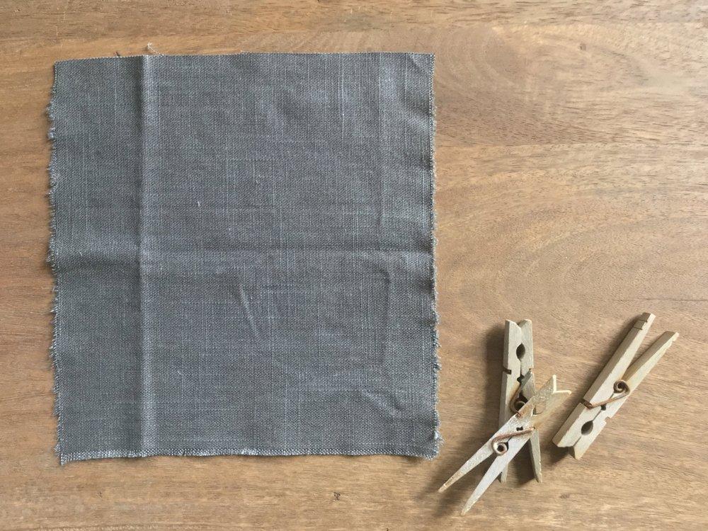 linen blend - charcoal